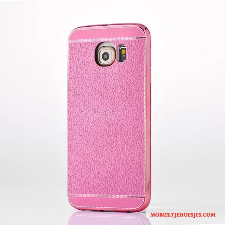 Samsung Galaxy S6 Edge Hoes Bescherming Hoesje Telefoon Anti-fall All Inclusive Roze Ster