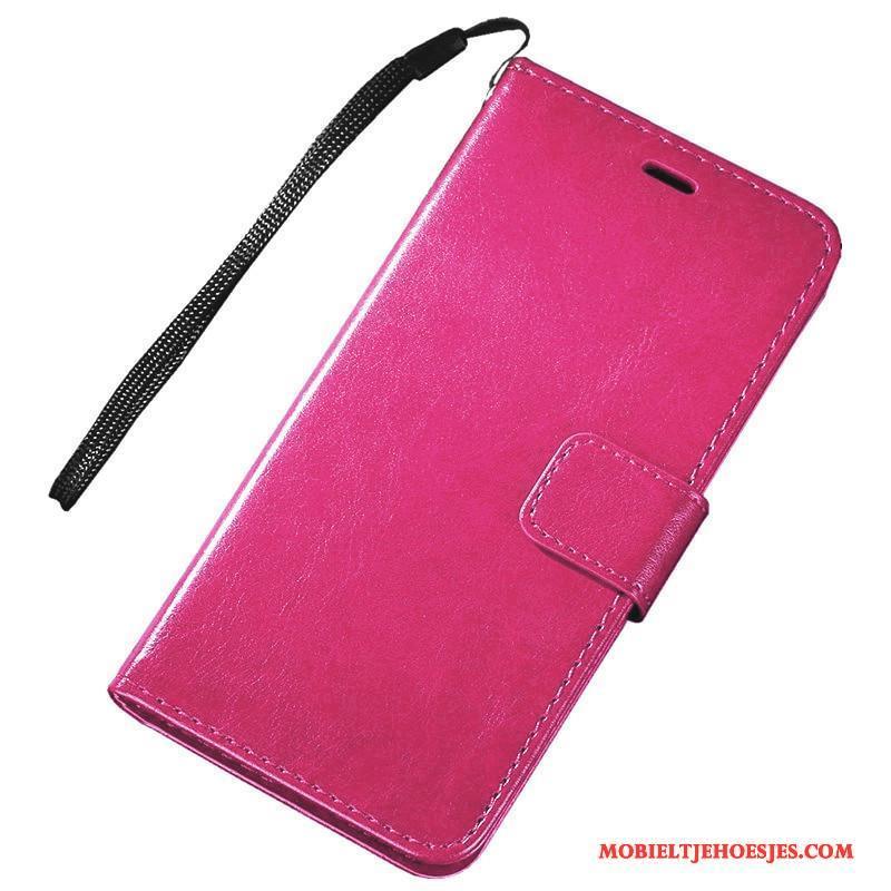 Samsung Galaxy S6 Edge Hoesje Folio Rood Bescherming Mobiele Telefoon Ster Leren Etui Hoes