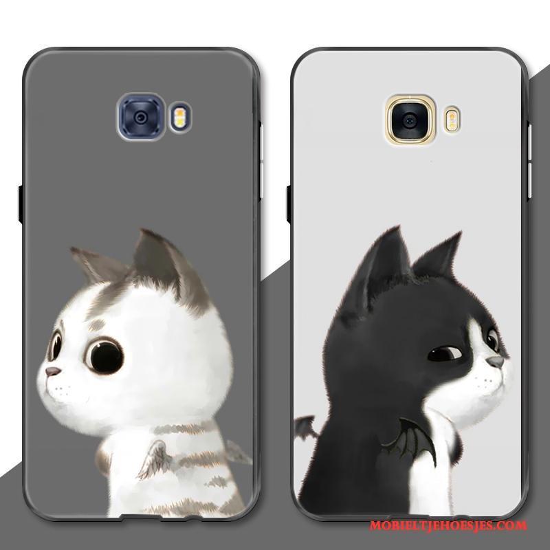 Samsung Galaxy S7 Edge Anti-fall Lovers Grijs Engel Dierlijk Kat Hoesje Telefoon