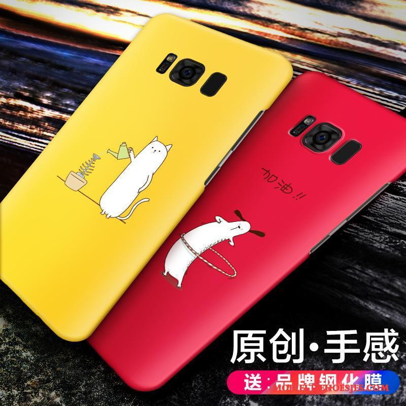 Samsung Galaxy S8 Hoesje Schrobben Ster Hard Scheppend Geel Trend Hoes
