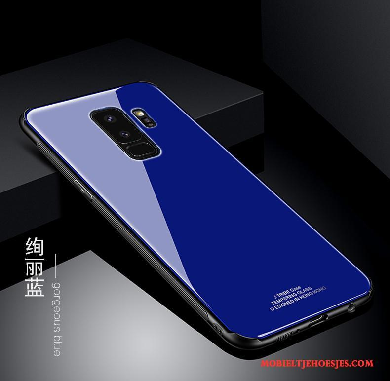 Samsung Galaxy S9+ Anti-fall Siliconen All Inclusive Blauw Hoes Trend Hoesje Telefoon