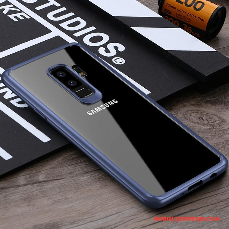 Samsung Galaxy S9+ Blauw Hoes Trend Hoesje Dun Ster Siliconen