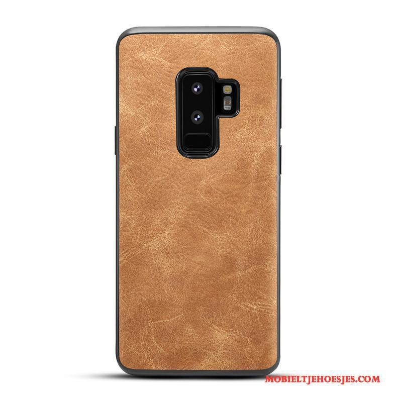 Samsung Galaxy S9+ Hoes Ster All Inclusive Bescherming Siliconen Vintage Hoesje Telefoon