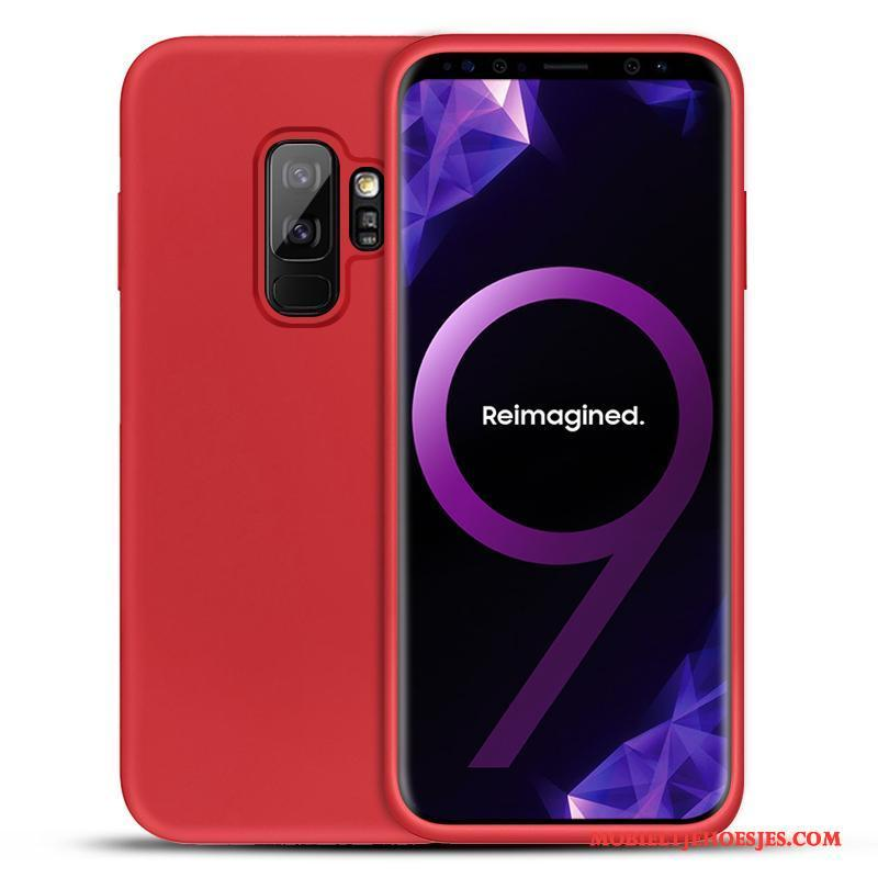 Samsung Galaxy S9+ Hoesje Telefoon All Inclusive Siliconen Rood Bescherming Anti-fall Ster