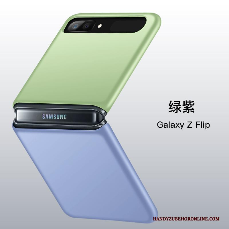 Samsung Z Flip Hoesje Telefoon Groen Vouw All Inclusive Ster Purper Anti-fall