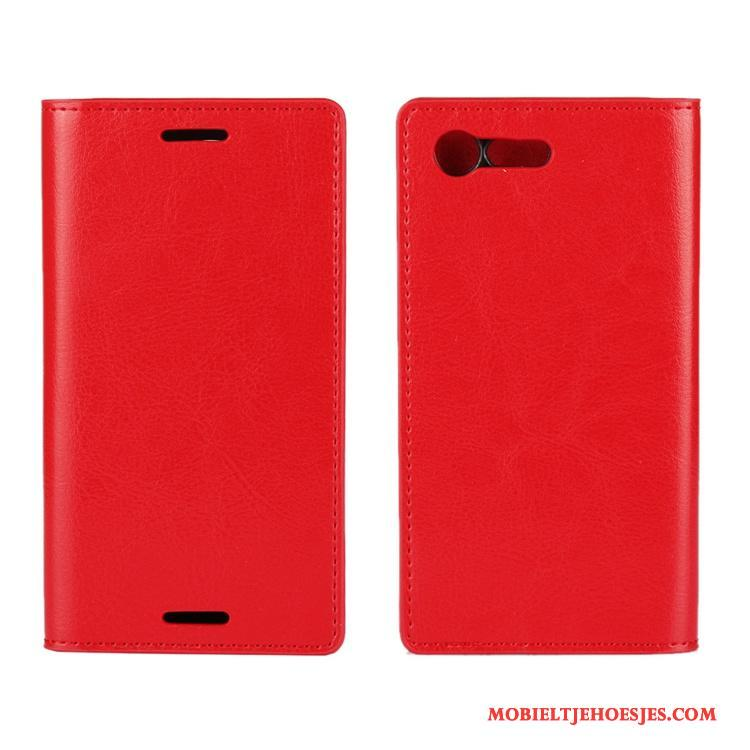 Sony Xperia X Compact Hoes Schrobben Bescherming Tas Hoesje Rood Hard