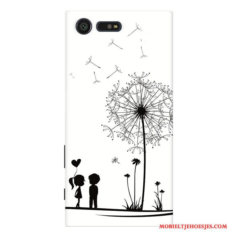 Sony Xperia X Compact Hoesje Bescherming Wit Anti-fall Patroon Mobiele Telefoon Pas Hoes
