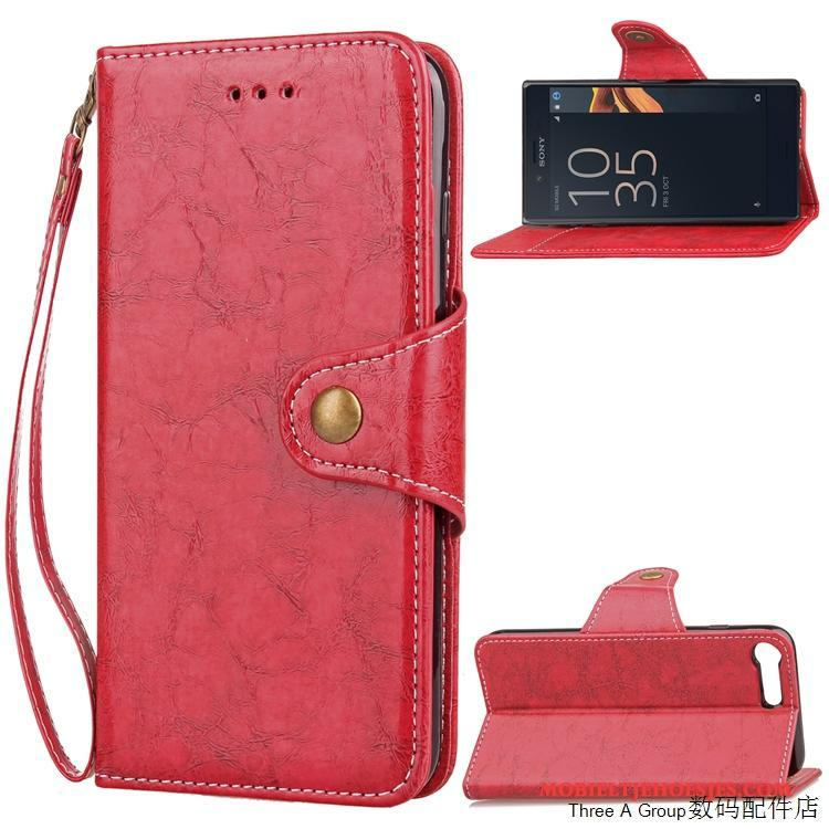 Sony Xperia X Compact Leren Etui Bescherming All Inclusive Hoes Zacht Hoesje Folio