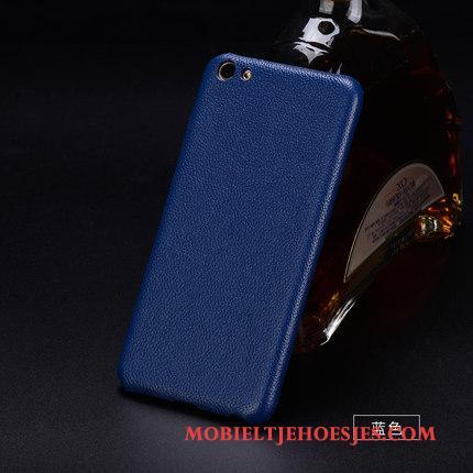 Sony Xperia Xz Premium Hoesje Patroon Hard Bescherming Hoes Blauw Bedrijf Echt Leer