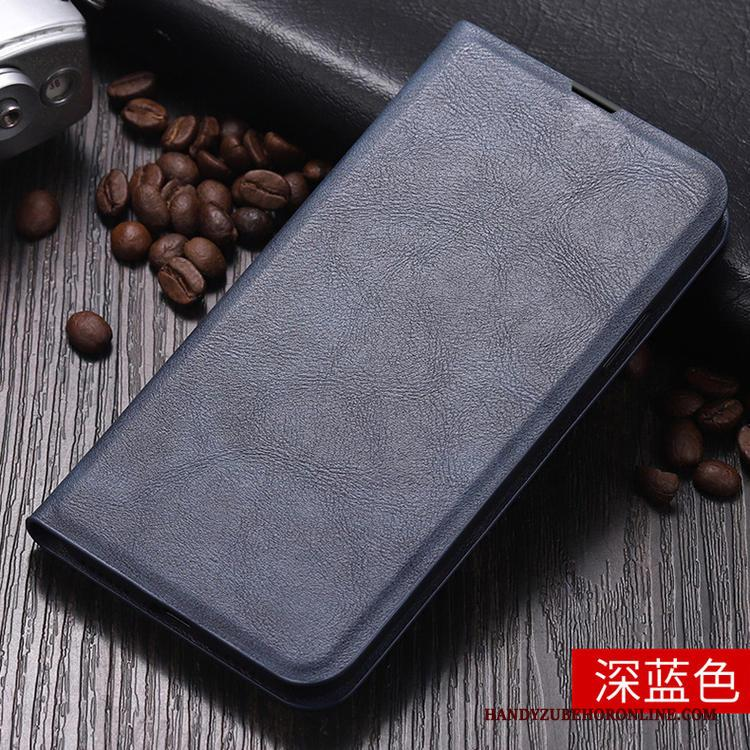 Xiaomi Mi 10 Pro Clamshell Blauw Leren Etui Mini All Inclusive Hoesje Anti-fall