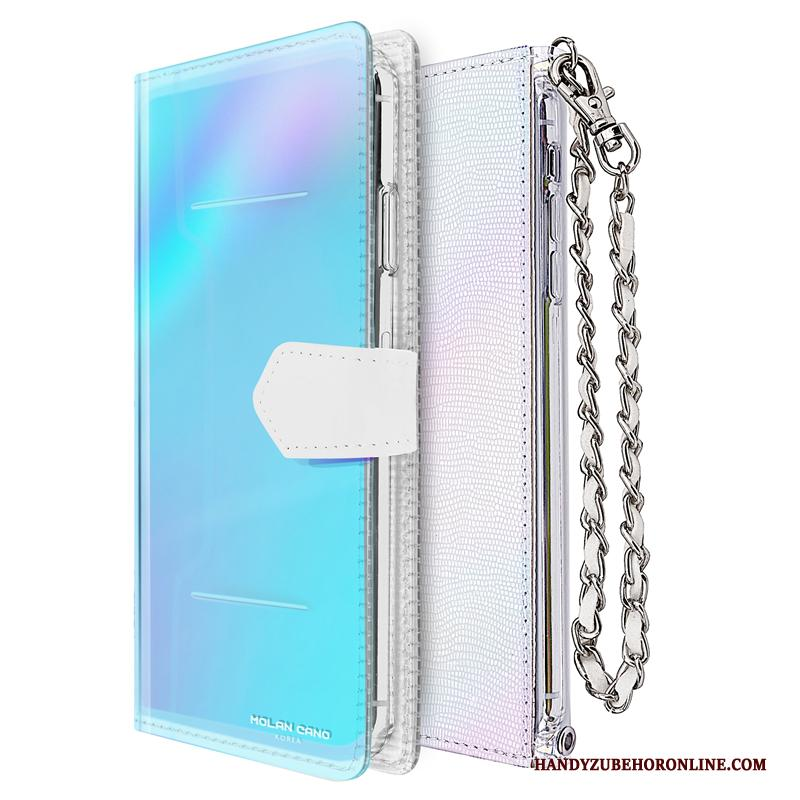 iPhone 11 Anti-fall All Inclusive Zacht Folio Leren Etui Ketting Hoesje
