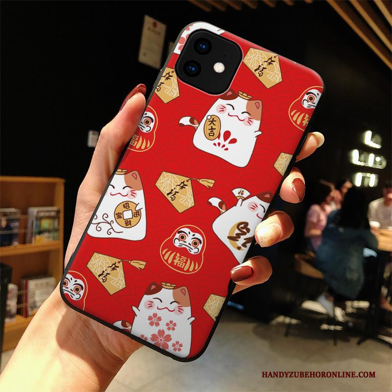 iPhone 11 Hoesje All Inclusive Rijkdom Siliconen Lovers Bescherming Rood Mode