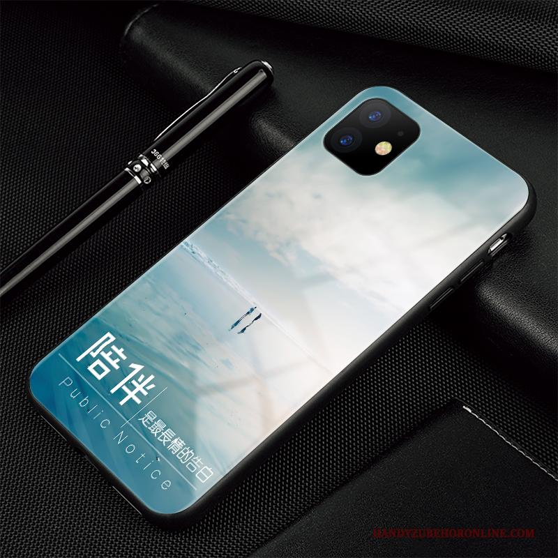 iPhone 11 Scheppend All Inclusive Siliconen Landschap Hoesje Telefoon Glas Trendy Merk