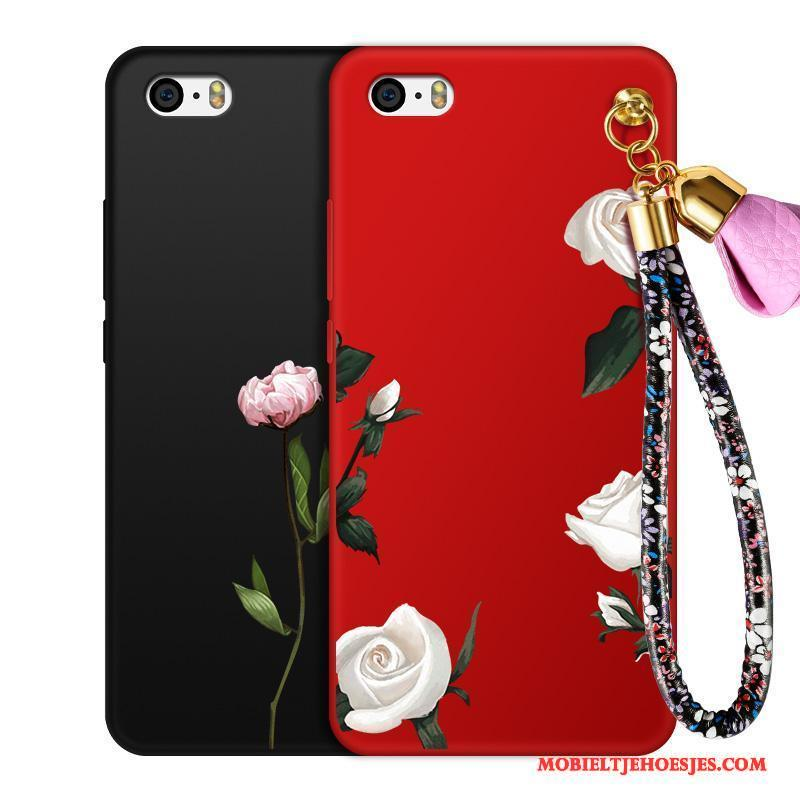 iPhone 4/4s Anti-fall Rood Hoes All Inclusive Hoesje Telefoon Zwart Grote