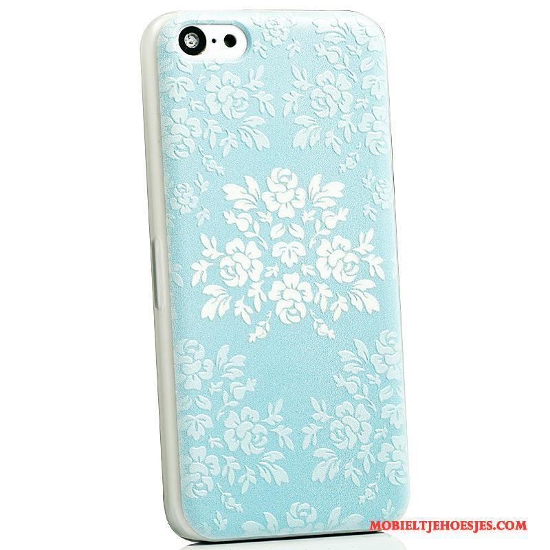iPhone 5c Spotprent Hoesje Telefoon Mooie Blauw Mobiele Telefoon Anti-fall Achterklep