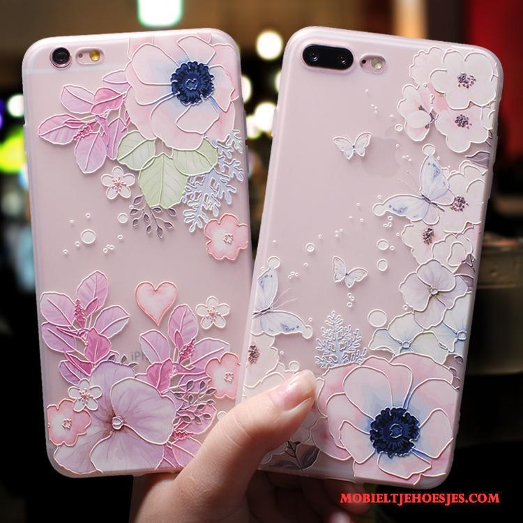 iPhone 7 Hoesje Anti-fall Trendy Merk Roze All Inclusive Elegante Schrobben Siliconen