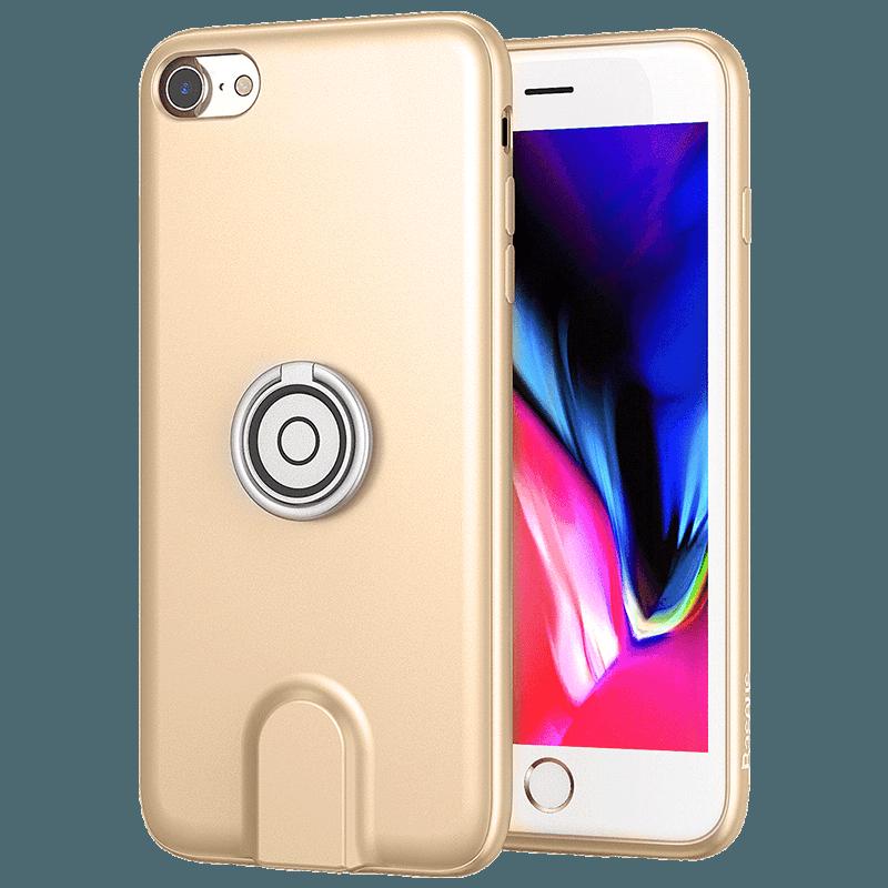 iPhone 8 Trend Goud Bescherming Klittenband Ondersteuning Magnetisch Hoesje Telefoon