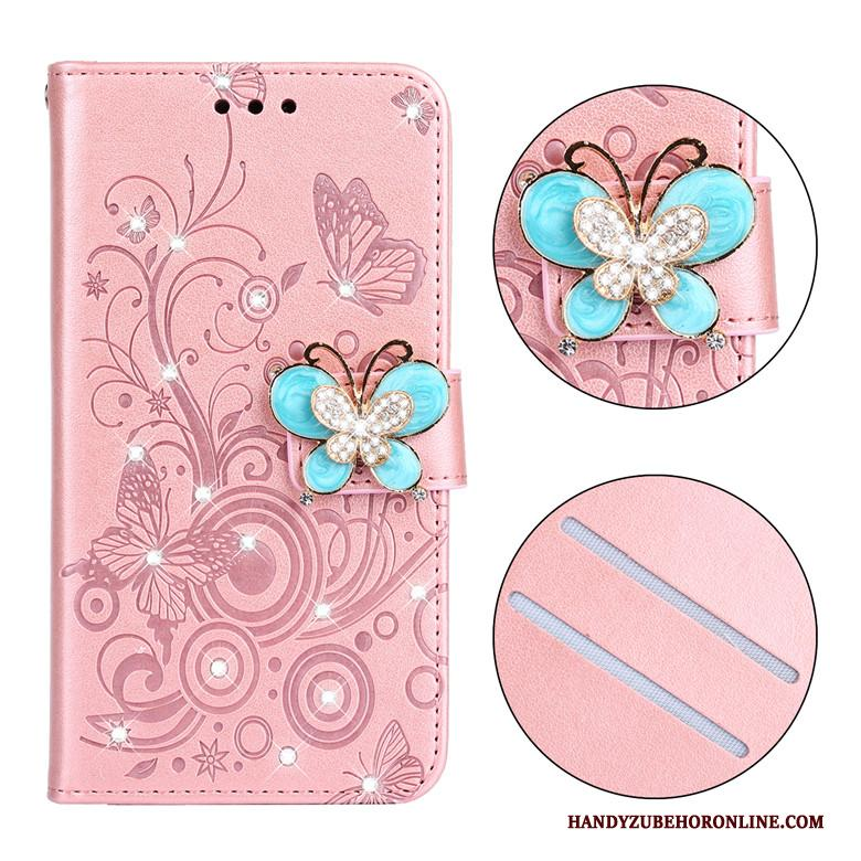 iPhone Se 2020 Hoesje All Inclusive Leren Etui Folio Strass Siliconen Bescherming Anti-fall