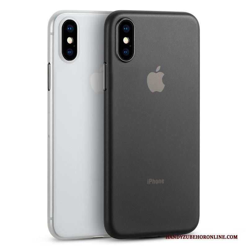 iPhone Xs Eenvoudige Hoesje Bescherming Patroon Dun Zwart Bedrijf