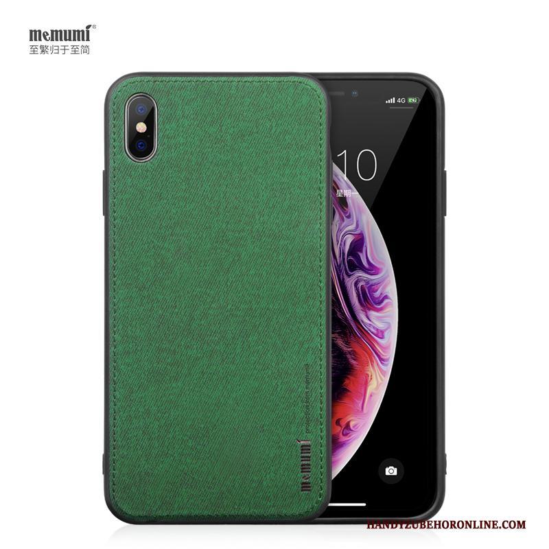 iPhone Xs Hoesje Telefoon Zacht Kunst Eenvoudige All Inclusive Groen Bescherming