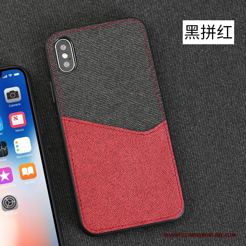 iPhone Xs Magnetisch All Inclusive Hoesje Telefoon Rood Ondersteuning Antislip Bescherming
