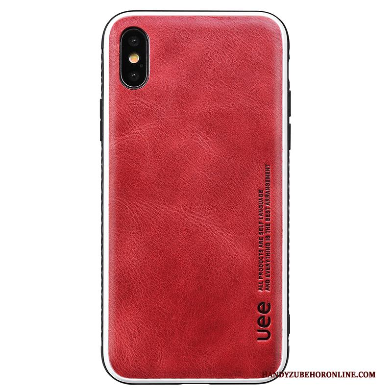 iPhone Xs Nieuw Anti-fall Lovers All Inclusive Hard Rood Hoesje Telefoon
